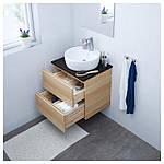 IKEA GODMORGON/TOLKEN/TORNVIKEN Шкаф под умывальник с раковиной, белый окрашенный дуб, (091.876.11), фото 2