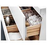 IKEA GODMORGON/BRAVIKEN Шкаф под умывальник с раковиной, белый  (290.234.35), фото 3