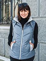 Женская жилетка SIZE+ (большие размеры — 54-60) серого цвета