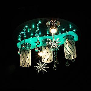 """Люстра """"космос"""" з LED підсвічуванням на пульті управління P5-S0786/3+2/CH+BK+WT"""