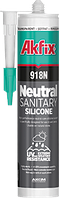 Силиконовый герметик санитарный Akfix 918N 310 мл белый