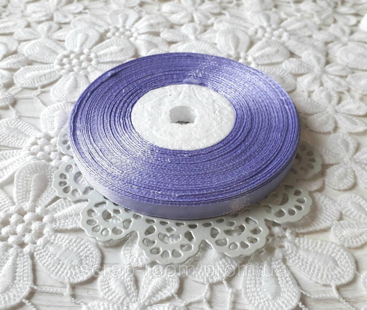 Лента атласная 0,6 см светло-фиолетовая, лента фиолетовая атлас, лента атласная цвет фиолетовый, цена за метр