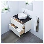 IKEA GODMORGON/TOLKEN/TORNVIKEN Шкаф под умывальник с раковиной, глянцевый белый, антрацит  (291.878.65), фото 2