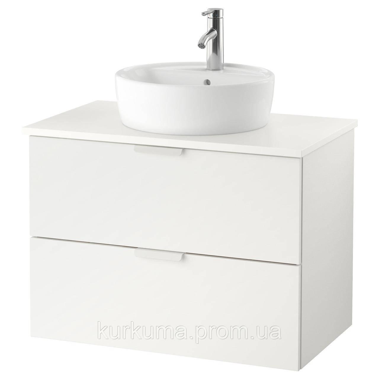 IKEA GODMORGON/TOLKEN/TORNVIKEN Шкаф под умывальник с раковиной, белый  (891.877.73)