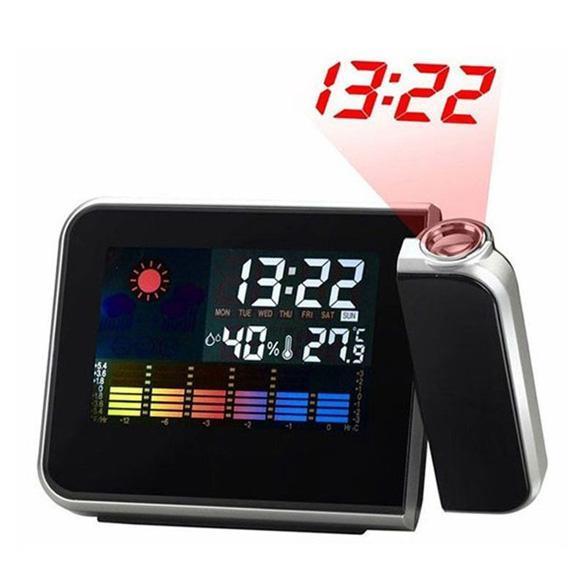 Настольные часы с проектором времени Color Screen Calendar 8190