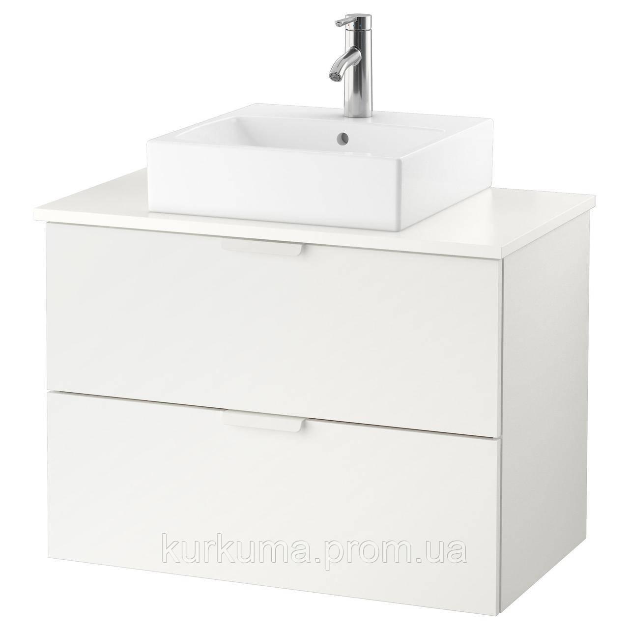 IKEA GODMORGON/TOLKEN/TORNVIKEN Шкаф под умывальник с раковиной, белый  (291.878.51)