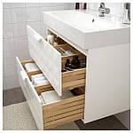 IKEA GODMORGON/BRAVIKEN Шкаф под умывальник с раковиной, Ресжöн белый  (892.473.38), фото 2