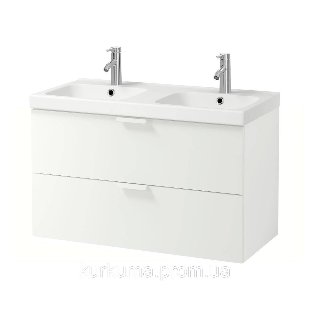 IKEA GODMORGON/ODENSVIK Шкаф под умывальник с раковиной, белый  (191.852.25)
