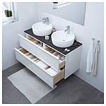 IKEA GODMORGON/TOLKEN/TORNVIKEN Шкаф под умывальник с раковиной, глянцевый белый, антрацит  (191.852.92), фото 2