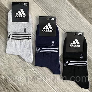 Носки мужские демисезонные х/б спортивные Adidas, Athletic Sports, средние, ассорти, 12542