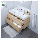 IKEA GODMORGON/BRAVIKEN Шкаф под умывальник с раковиной, Дуб беленый  (991.865.32), фото 5