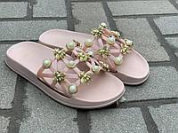 Шлепанцы женские с пчелой розовые Гипанис, фото 1