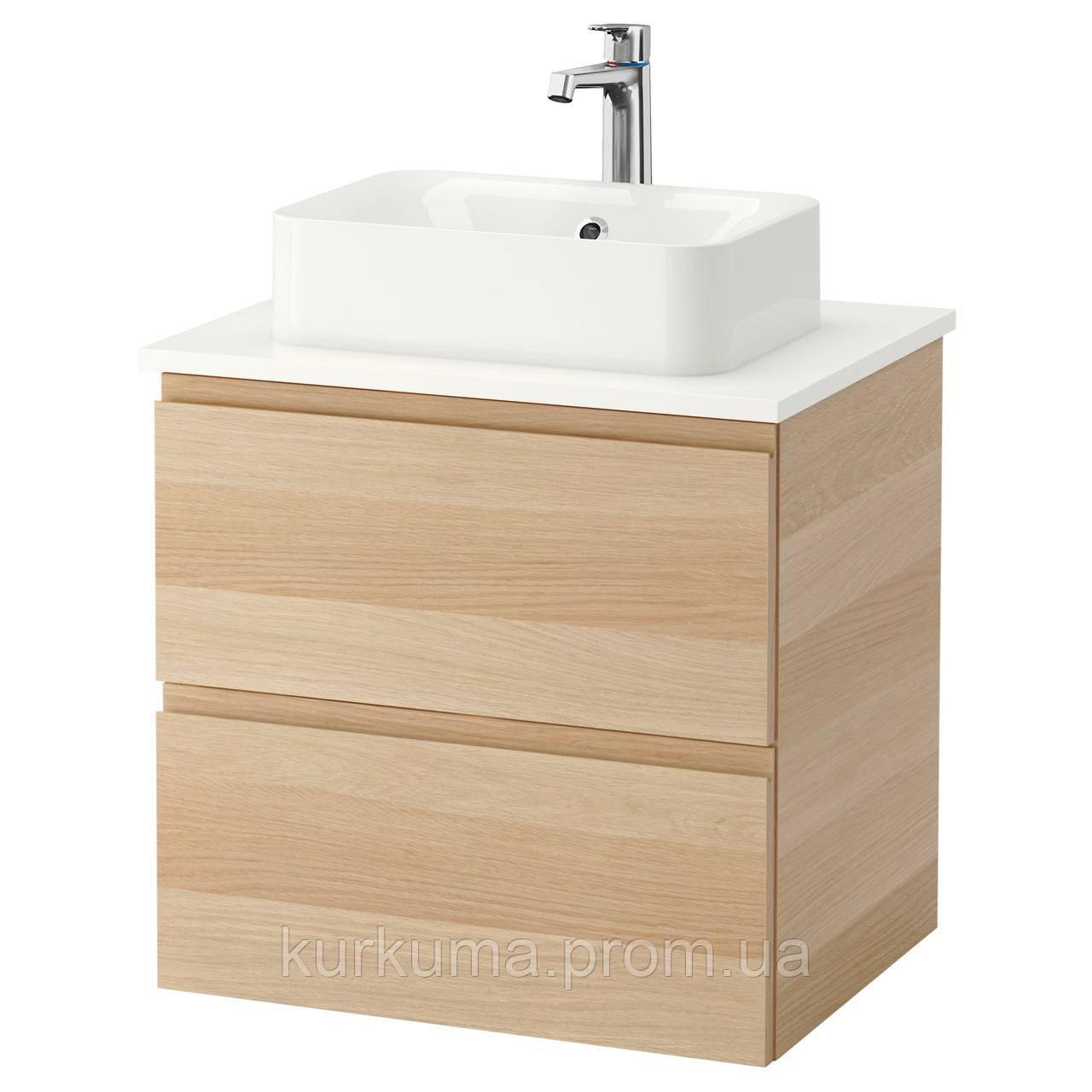 IKEA GODMORGON/TOLKEN/HORVIK Шкаф под умывальник с раковиной, белый  (292.102.53)