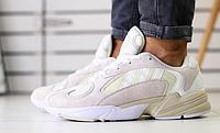 Кроссовки ADIDAS белые замшевые , фото 1
