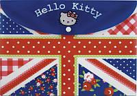 Папка на ккнопке Kite Hello Kitty А4