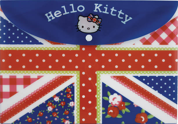 Папка на ккнопке Kite Hello Kitty А4, фото 2