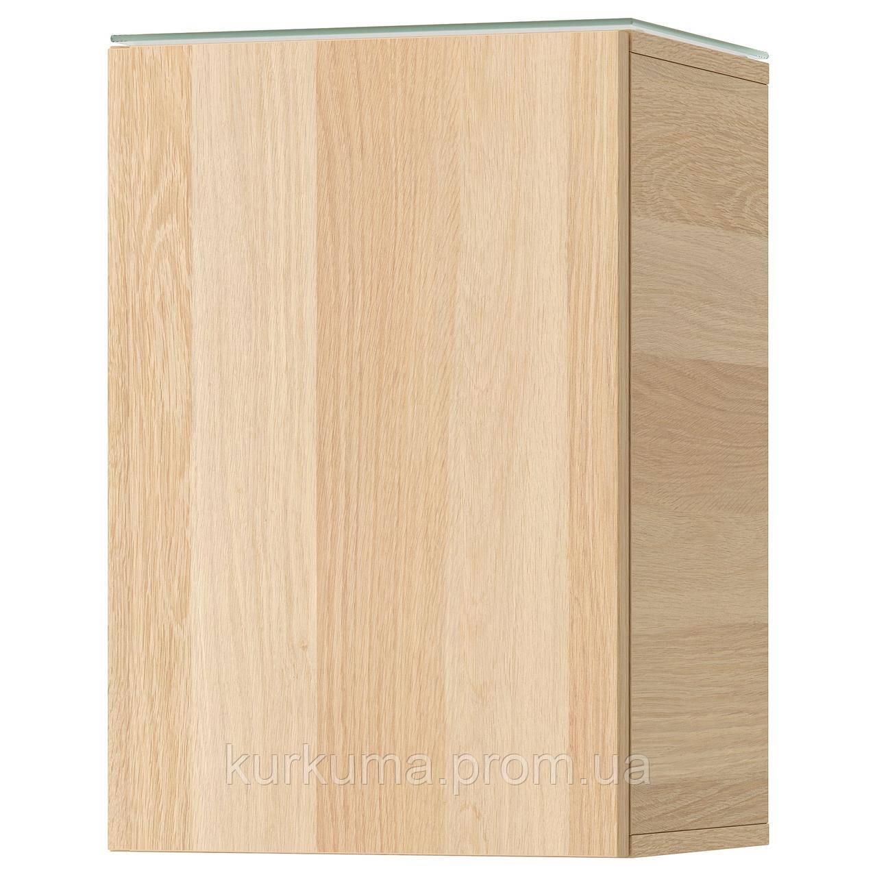 IKEA GODMORGON Настенный шкаф с дверями, белый дуб  (603.304.32)