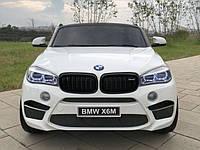 Детский электромобиль BMW X6M JJ2199: кож.сидение, колеса EVA