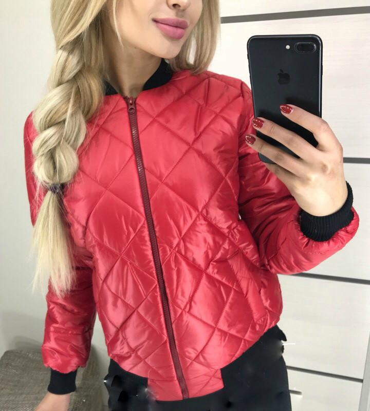 fdab3df054b Женская стеганая куртка бомбер