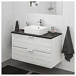 IKEA GODMORGON/TOLKEN/HORVIK Шкаф под умывальник с раковиной 45x32, Ресжöн белый, антрацит  (192.473.65), фото 3