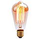 Лампа Эдисона 40Вт E27 ST64 Amber янтарная тонировка