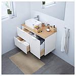 IKEA GODMORGON/TOLKEN/HORVIK Шкаф под умывальник с раковиной 45x32, белый, бамбук  (692.085.16), фото 2