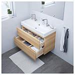 IKEA GODMORGON/BRAVIKEN Шкаф под умывальник с раковиной, дуб окрашенный в белый цвет  (991.865.27), фото 2