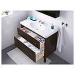 IKEA HEMNES Шкаф под умывальник с раковиной, черно-коричневая Морилка  (202.176.59), фото 2