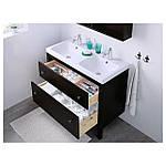 IKEA HEMNES Шкаф под умывальник с раковиной, черно-коричневая Морилка  (202.176.59), фото 3