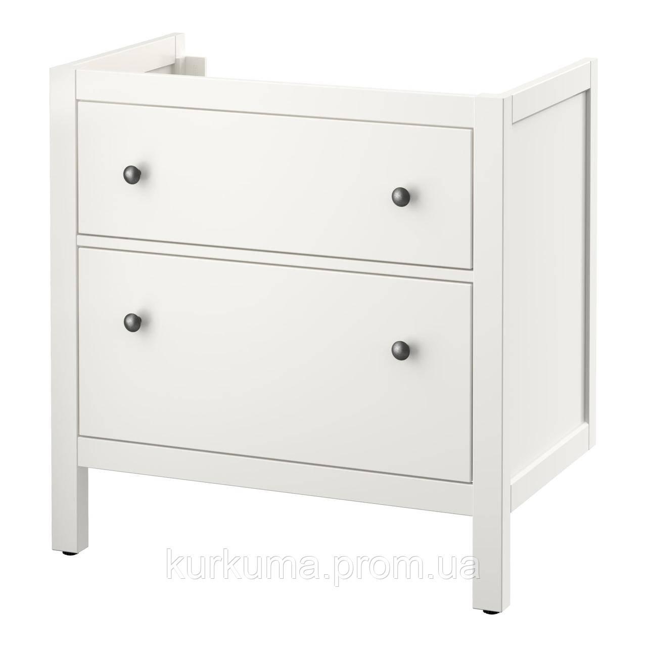 IKEA HEMNES Шкаф под умывальник с раковиной, белый  (202.176.64)