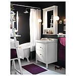 IKEA HEMNES/RATTVIKEN Шкаф под умывальник с раковиной, белый  (699.031.05), фото 4