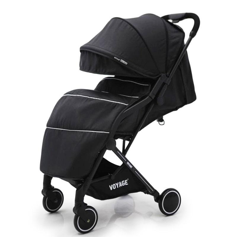 """Детская прогулочная коляска книжка  """"YUYO"""" T3101F черный"""