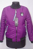 Стильная подростковая весенняя  куртка бомбер на девочку с 12-16лет, фото 1
