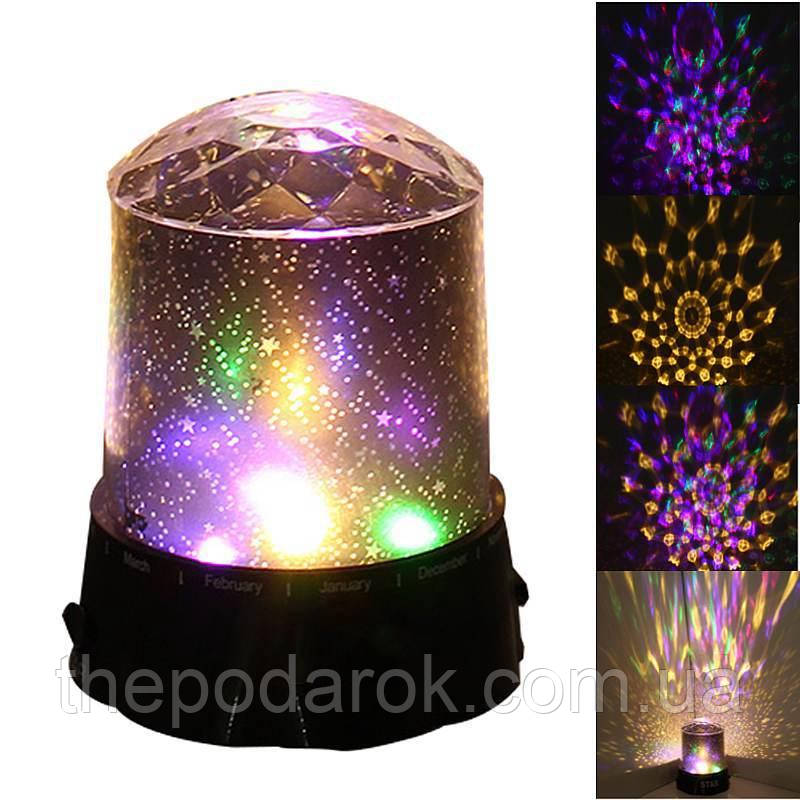 Проектор-ночник Звездное Небо Кристалл