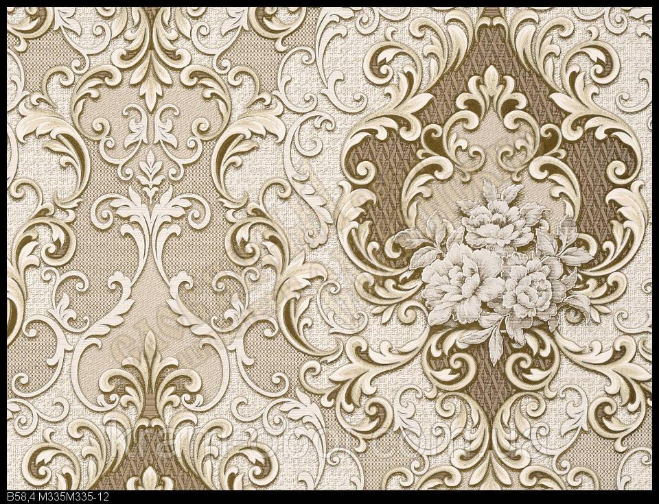 Шпалери Слов'янські Шпалери КФТБ вінілові на паперовій основі 10 м*0,53 9В58 Ліберті 335-12