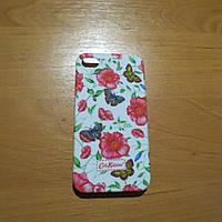 Чехол для iPhone 4 сердечко голубой