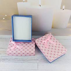 """Подарочная коробочка """"Цветные сердечки"""", цвет розовый с синим"""