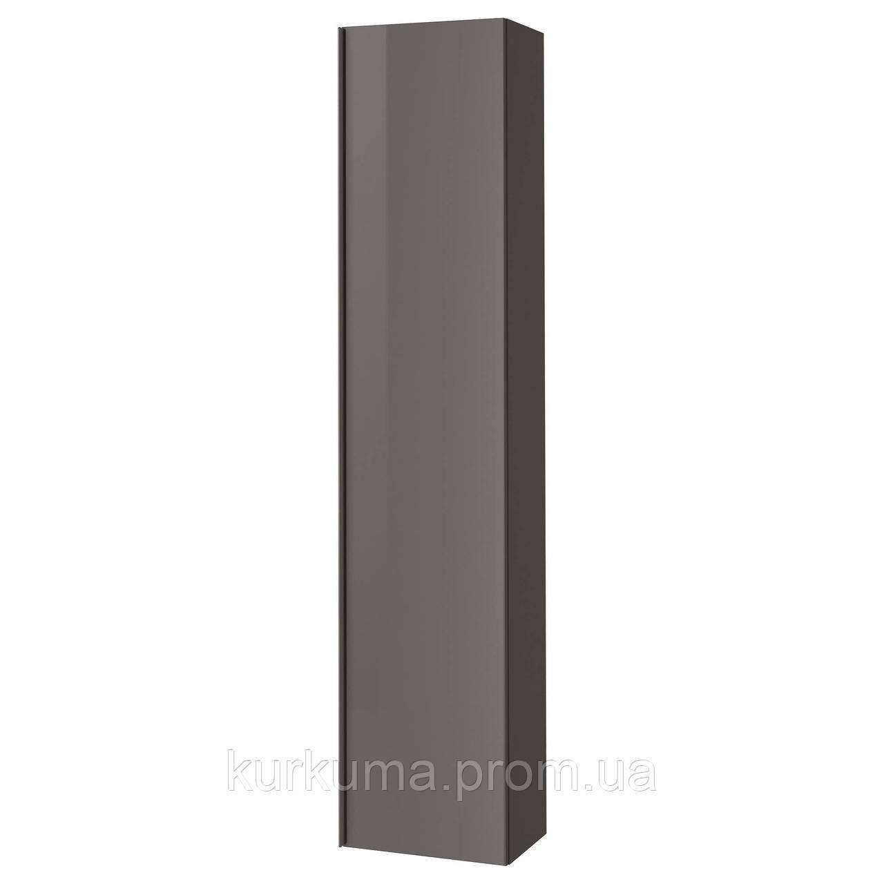 IKEA GODMORGON Высокий шкаф, глянцевый серый  (303.440.63)