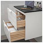 IKEA GODMORGON/TOLKEN Шафа під умивальник зі стільницею, Ресжон білий, антрацит (592.954.44), фото 3