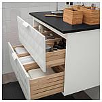 IKEA GODMORGON/TOLKEN Шафа під умивальник зі стільницею, Ресжон білий, антрацит (092.954.65), фото 3