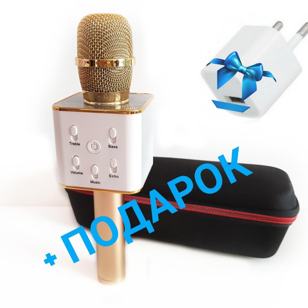 Портативный караоке микрофон Bluetooth Q7.Беспроводной