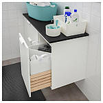 IKEA GODMORGON/TOLKEN Шафа під умивальник зі стільницею із 3 ящиками, білий, антрацит (792.952.83), фото 3