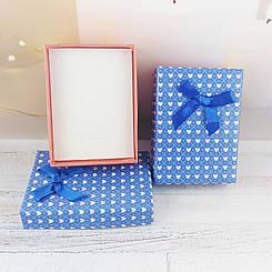 """Подарочная коробочка """"Цветные сердечки"""", цвет синий с оранжевым"""