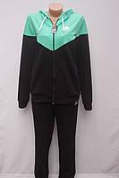 Трикотажный  женский спортивный костюм Большого размера  в стиле Adidas