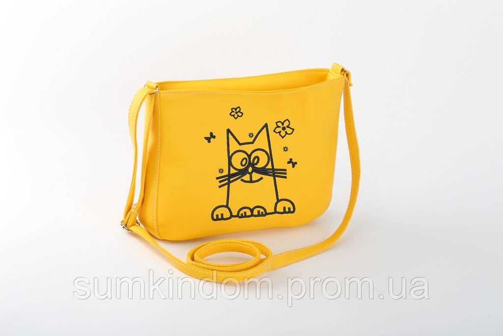 Маленькая женская сумка с вышивкой «Кот Саймона»