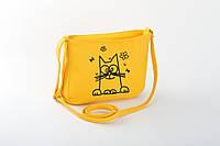 Маленькая женская сумка с вышивкой «Кот Саймона», фото 1