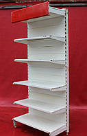 Односторонние (пристенные) стеллажи «Росс» 220х96 см. (Украина), Белые, Б/у, фото 1