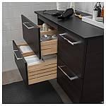IKEA GODMORGON/TOLKEN Шафа під умивальник зі стільницею, чорно-коричневий, антрацит (092.953.14), фото 2