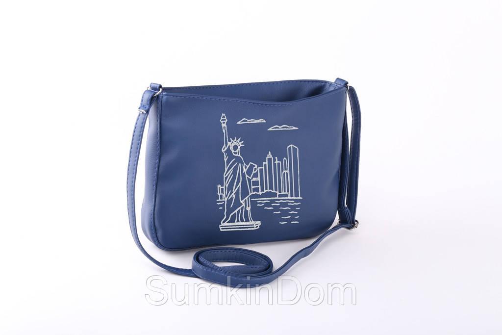Маленькая сумка с вышивкой «New York. Статуя Свободы»