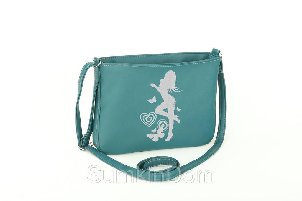 Маленькая сумка с вышивкой «Девушка с бабочкой»